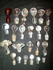 lot de 25 bouchons en verre pour carafes et flacons ép .fin 19éme, début 20éme