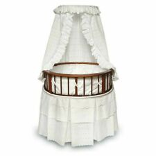 Badger Basket Round Cherry Bassinet With White Bedding         916