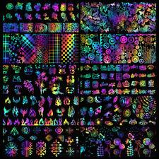 10 Pcs 4*20cm Holographic Nail Art Foil Plants Animals Manicure Transfer Sticker