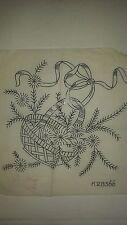 Vintage Deightons Embroidery Transfer Pattern -Basket of flowers K28566