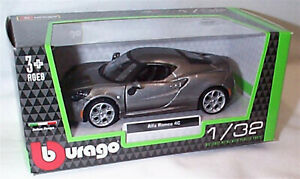 Alfa Romeo 4C Grey 1:32 Scale Diecast  burago New in Box