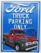Ford Truck Parking Only Embossed Metal F-100 Pickup Classic