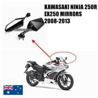 Black Motorcycle Rear View Mirrors Kawasaki Ninja 250R EX250 08 09 10 11 12 13
