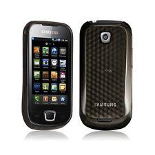 Housse coque gel damier transparent Samsung Galaxy Teos i5800 couleur noir