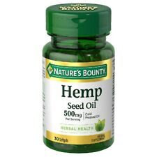 Nature's BountyHemp Seed Oil 500 mg 30 softgels EXP: 12/21