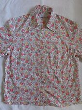 LIBERTY OF LONDON LADIES floral blouse / shirt SIZE 14 RARE PRINT