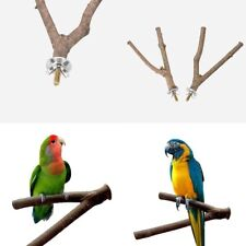 New listing Parrot Cage Pet Raw Fork Wooden Stand Rack Toy Hamster Branch Bird Perches Stand