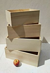wooden crate storage unit bread box natural eco material pyrography wood wedding