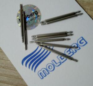2 Federstege, Federstifte Pins, Uhrenstifte für Uhrenarmband 18 - 24 mm 1,78 mm