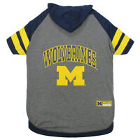 Michigan Wolverines Pets First Officially Licensed Dog Pet Hoodie Tee Shirt XS-L