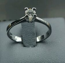 ANILLO SOLITARIO ORO BLANCO 18 CT DIAMANTE 0,25 CT PROMESA DE BODA