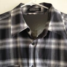 Gray Plaid Shirt Button Up Long Sleeve 2XLB Beverly Hills Polo Club XXL