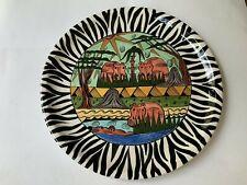"New listing Penzo Zimbabwe Hand Painted 12 3/4"" Plate"