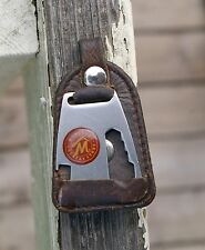 """""""Marlboro Country Store"""" Metal & Leather Keychain Knife Bottle Opener Tobacco"""