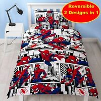 Marvel Spider-Man Kids Childrens Bedding Duvet Cover Pillowcase Set Single Bed