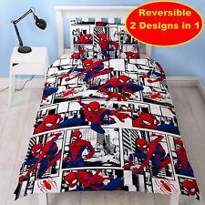 Marvel Spider-Man Kids Childrens Bedding Duvet Cover Pillowcase Set Single Bed