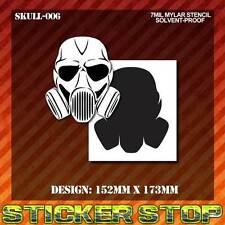 SKULL (GAS MASK) MYLAR STENCIL (Airbrush,Craft, Spray, Re-usable) SKULL-006