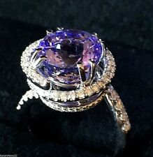New Vortex Designer 14K WG 4.89 Carat Top Grade Tanzanite And Diamond Ring
