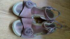 Girls clarks pink suede wedge adjustable sandals size 13