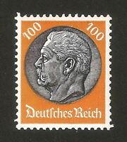 DR Nazi 3rd Reich Rare WW2 Stamp 1933 Hindenburg Medalion MNH # 528 Swastika War