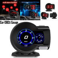 OBD2 Auto Gauge HD LCD-Bildschirm HUD Digitalanzeige Diagnose-Scan-Tool Schwarz