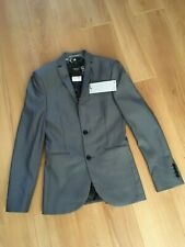 mens next grey skinny fit suit jacket size 32R nwt