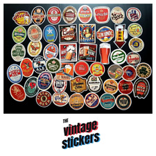 Lot of 50 Vintage Beer Stickers Brewery Craft Brew Logo Decal Label Sticker