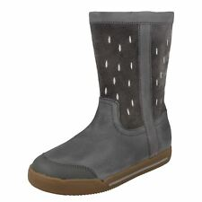 Girls Clarks Zip up Casual BOOTS Lil Folk Glo UK 10 Infant Grey F