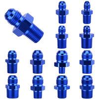 AN4 AN6 AN8 AN10 AN12 NPT Straight Fuel Oil Air Hose Fitting Male Adapter Blue