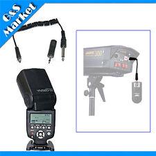 Yongnuo YN560III Flash light+RF603 Screwlock PC Sync Cable 6.35mm+3.5mm adapter