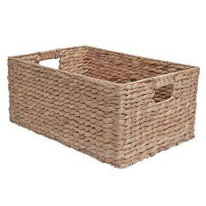 Wicker Storage Basket, Shelf Drawer, Water Hyacinth - Bedroom Kitchen Office