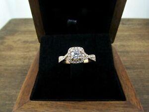 VERA WANG LOVE 14K Rose Gold Diamond Halo Engagement Ring *$3900 RETAIL*