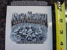 HARLEY DAVIDSON*STONE MOUNTAIN,GEORGIA*4 BY 4 INCH*DEALER*DECAL