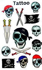 Temporal Pirata & Skull Tatuajes Para Niños / Kids 56632