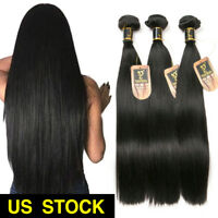 8A Brazilian Straight Hair 3 Bundles 300g Virgin Human Hair Extension Weave Weft