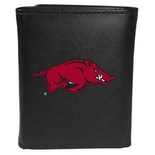 Arkansas Razorbacks Leather Trifold Wallet Large Logo