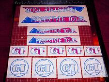 1986 GT BMX Pro Freestyle Tour, restoration decals on clear MAGENTA THIN