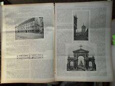 1898  Freiburg Teil 1 Nürnberg Kaiser Wilhelm Denkmal Teil 2