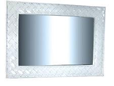 Wandspiegel Weiß120 x 90 Barock in Pianolack Hasiri  Spiegel Mirror