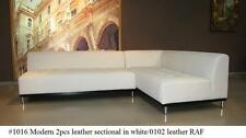 2 PC Modern contemporary Leather Sectional Sofa w/ Detachable Arms #1016