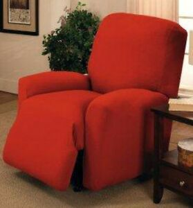 """""""SPECIALLY PRICED""""   JERSEY RECLINER COVER--LAZY BOY---- RED----""""STRETCHES"""""""