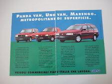 advertising Pubblicità 1993 FIAT UNO VAN / PANDA VAN / MARENGO