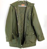 Kilgour Men's Winter Jacket w/ Hood Military Style OD Green Winter Coat LARGE