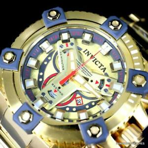 Invicta Grand Octane Coalition Forces 63mm Gold Plated Swiss Mvt Watch New