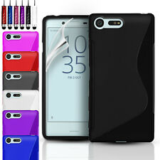 Slim S-Line Gel Case Cover for Sony Xperia X Compact + Screen Protector + Stylus