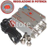 Amplificatore Sdoppiatore 3 Uscite Per Segnale Antenna TV Digitale Terrestre