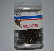 Eagle Claw box of 100 Plain Shank Size 3/0 Fish Hooks 084 Bronze