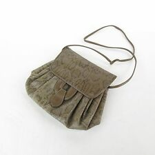 Vintage 80s Faux Leather & Snakeskin Handbag Purse Magnetic Clasp