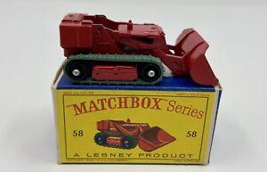 Matchbox No. 58 Drott Excavator in Original 'D' Box