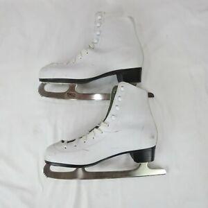 DBX Motion Figure Skates Size 9 41 White Ice Skating